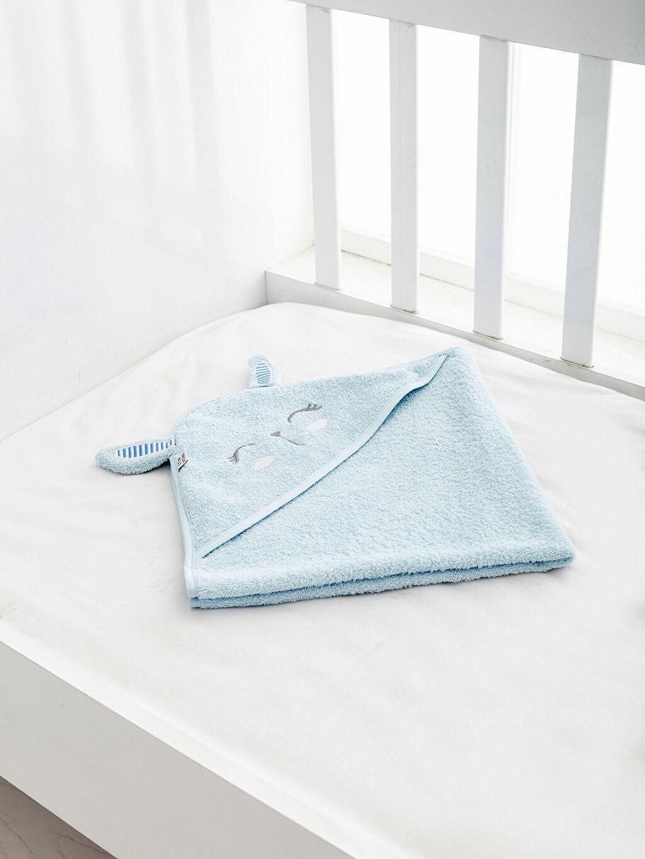 Mavi Bebek Nakışlı Banyo Havlusu 0SL001Z1 LC Waikiki