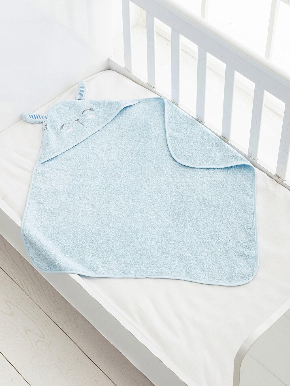 %100 Pamuk %100 Pamuk Bebek Havlusu Bebek Nakışlı Banyo Havlusu