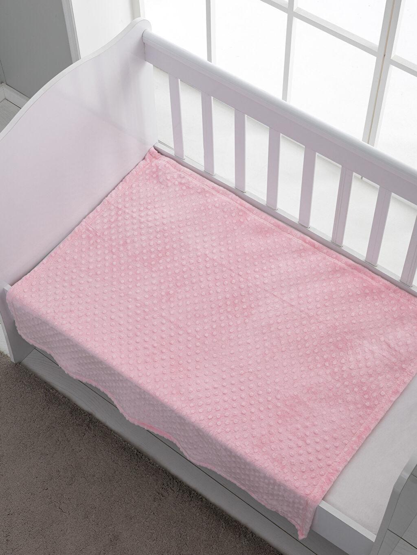 %100 Polyester Orta Kalınlık Bebek Battaniyesi Welsoft Well Soft Nohut Bebek Battaniyesi