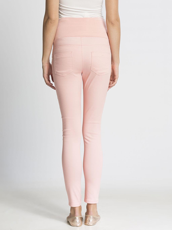 %66 Pamuk %29 Polyester %5 Elastan Pantolon Düz Gabardin Super Skinny Hamile Pantolon