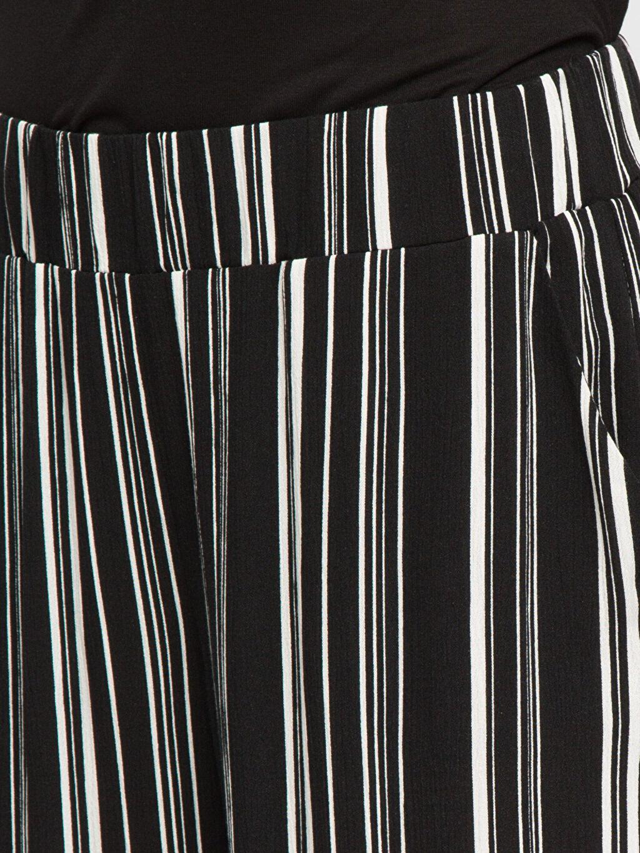 %100 Viskoz Siyah Pantolon