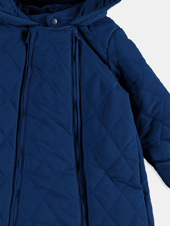 %100 Polyester %100 Polyester Polar Astar Düz Aksesuarsız Astronot Mont Lacivert Mont