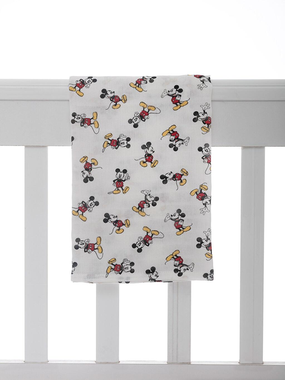 Ekru Erkek Bebek Mickey Mouse Baskılı Müslin Bez 9W7904Z1 LC Waikiki