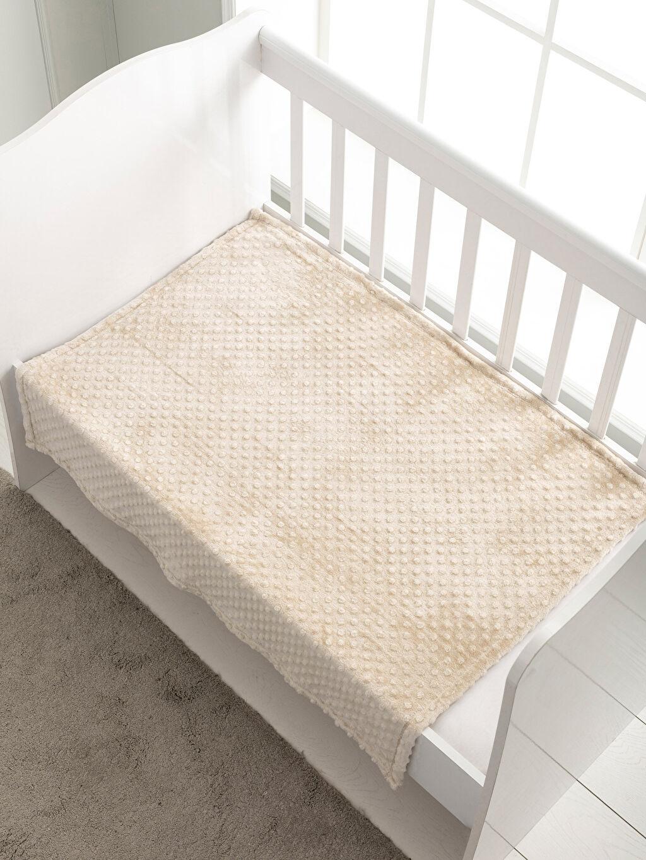 %100 Polyester Bebek Battaniyesi Düz Pelüş Erkek Bebek Pelüş Battaniye