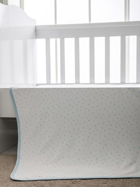 Beyaz Erkek Bebek Yıldız Desenli Battaniye 9SR885Z1 LC Waikiki