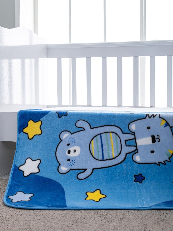 Mavi Pelüş Bebek Battaniye 9WM431Z1 LC Waikiki
