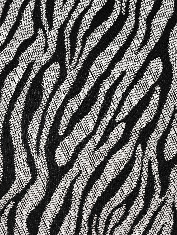 %100 Polyester Dantel Baskılı Masa Örtüsü Zebra Desenli Dantelli Masa Örtüsü