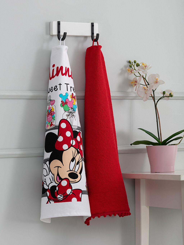 Çok Renkli Minnie Mouse Lisanslı Kurulama Bezi 2'li 9WK775Z8 LC Waikiki