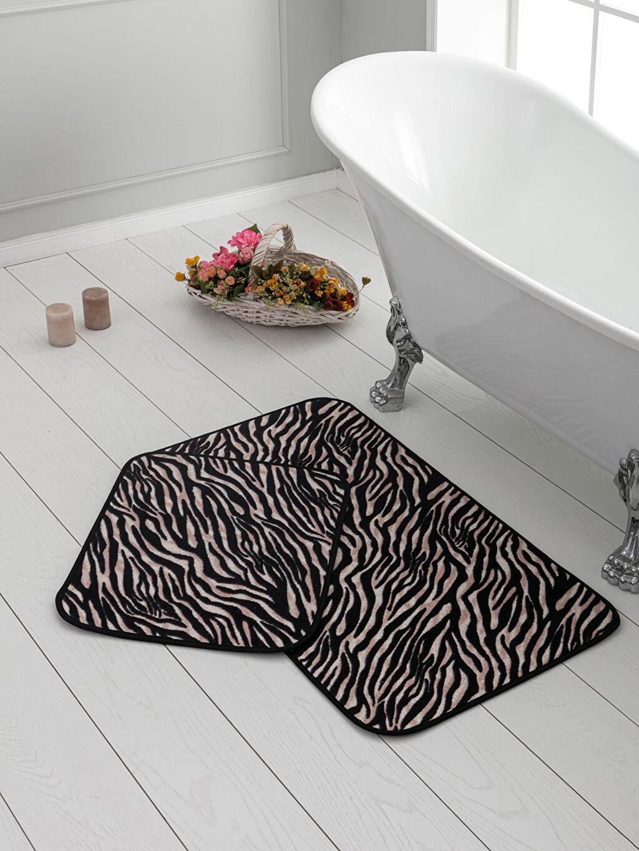 Siyah Zebra Baskılı Banyo Paspası 2'li 9WJ563Z8 LC Waikiki
