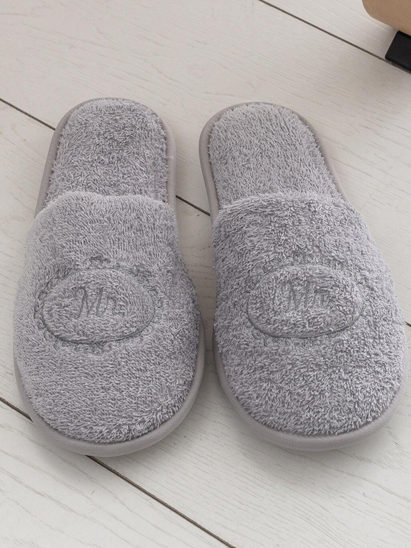 Tekstil malzemeleri %100 Pamuk Banyo Terliği Erkek Banyo Terliği