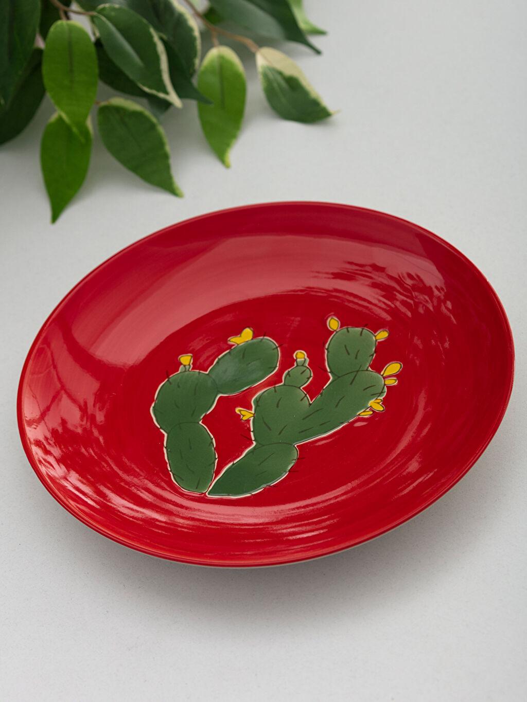 Kırmızı Dekoratif Seramik Tabak 9W4694Z8 LC Waikiki