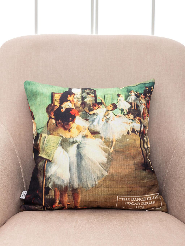 %100 Polyester Kırlent Baskılı Edgar Degas Baskılı Kırlent Kılıfı