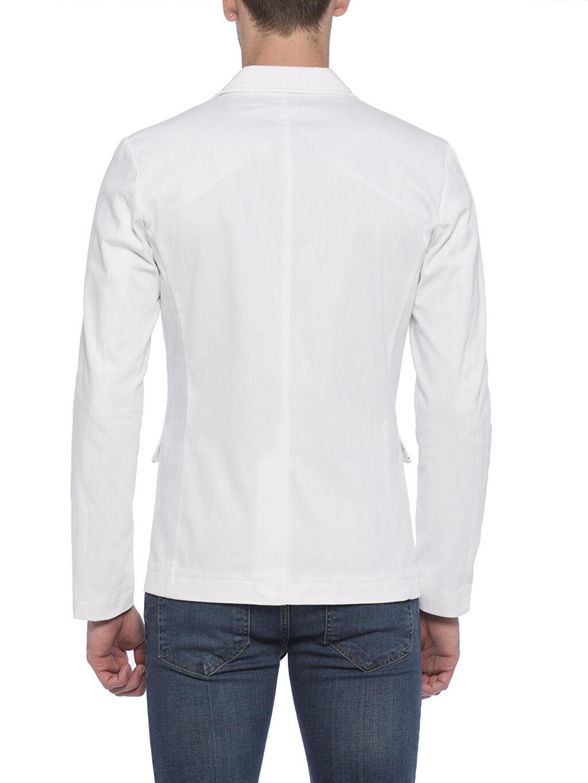 %98 Cotton %2 Elasthane %98 U: COTTON %2 ELASTANE Dar Kalıp Blazer Ceket