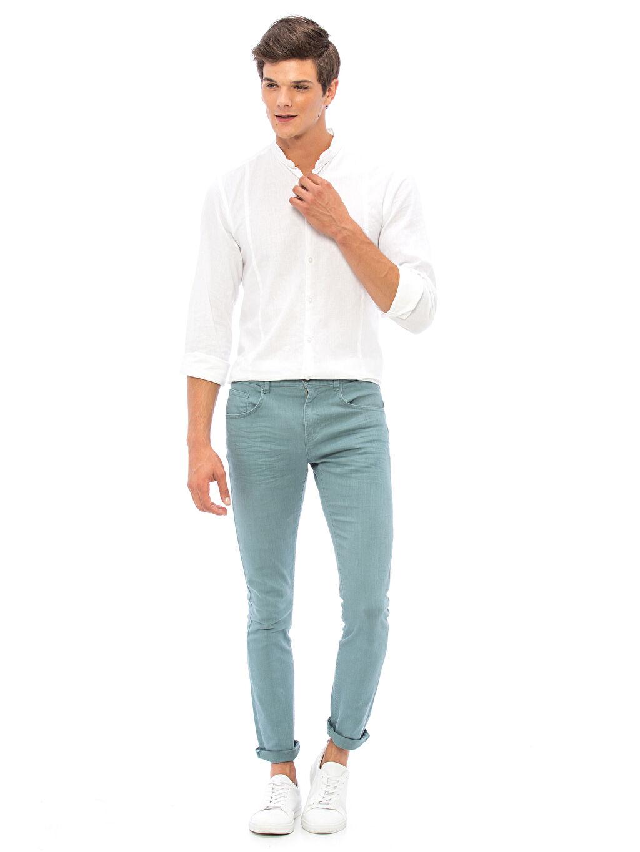 Erkek Super Slim Gabardin Pantolon