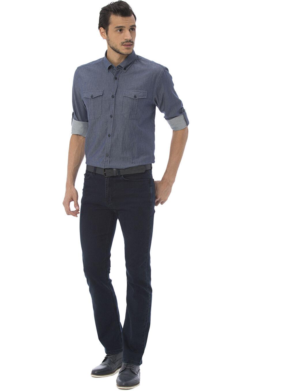 Erkek Düz Normal Uzun Kollu Gömlek