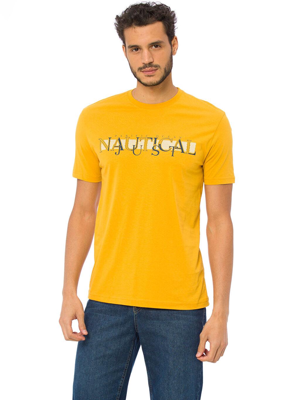 Sarı Baskılı Tişört 7K5591Z8 LC Waikiki