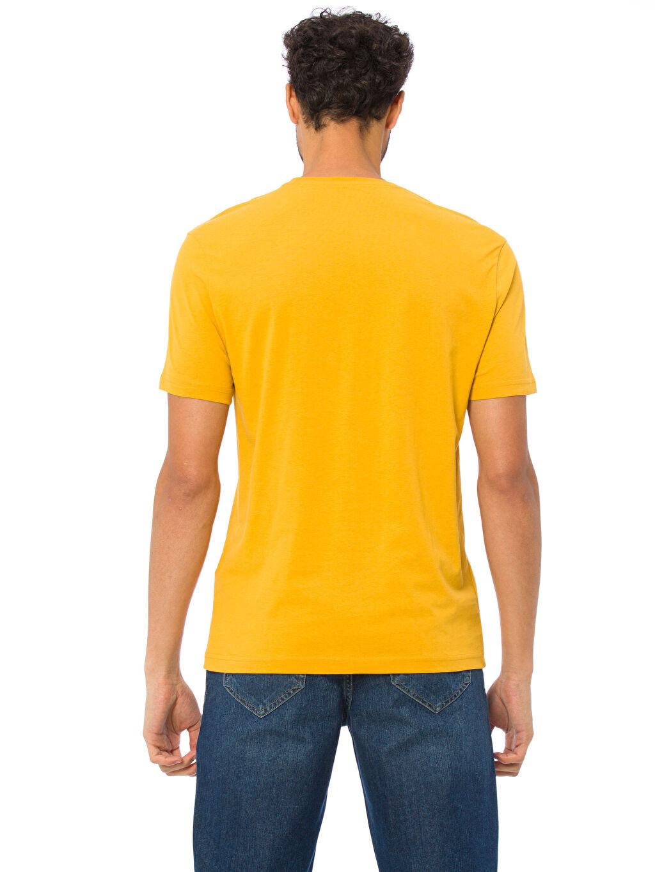 %100 Pamuk Standart Kısa Kol Tişört Baskılı Bisiklet Yaka Baskılı Tişört