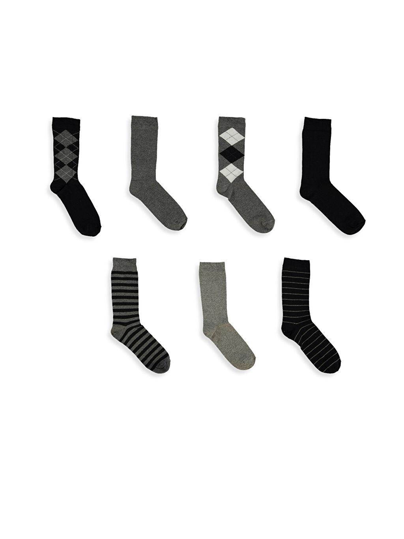 Antrasit Karma Soket Çorap 7'li 7K6599Z8 LC Waikiki