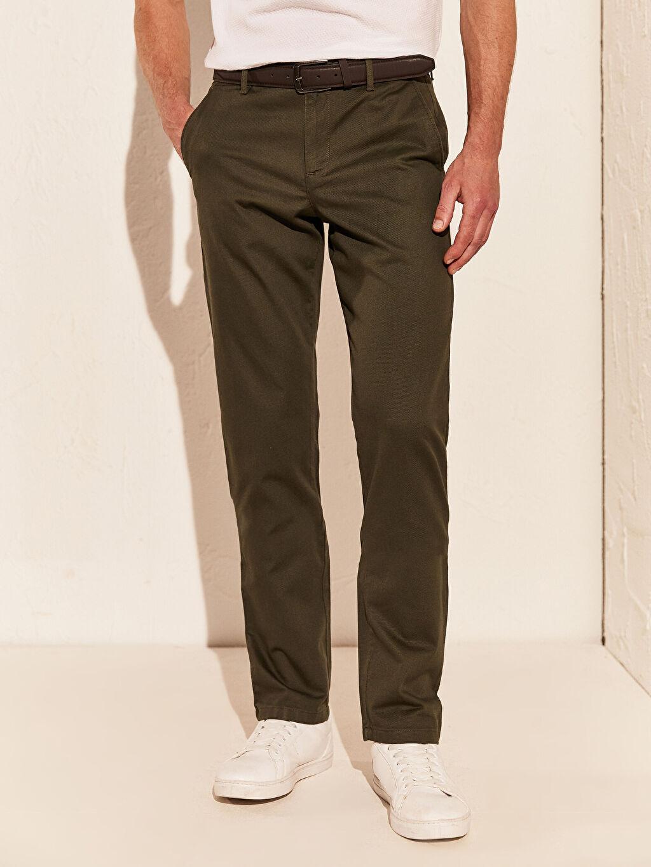 Erkek Slim Fit Esnek Pantolon
