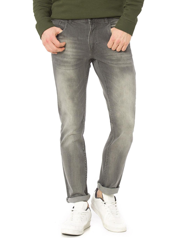 Gri Slim Jean Pantolon 7K8263Z8 LC Waikiki