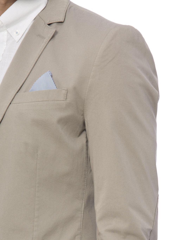 %100 Pamuk Gri Blazer Ceket