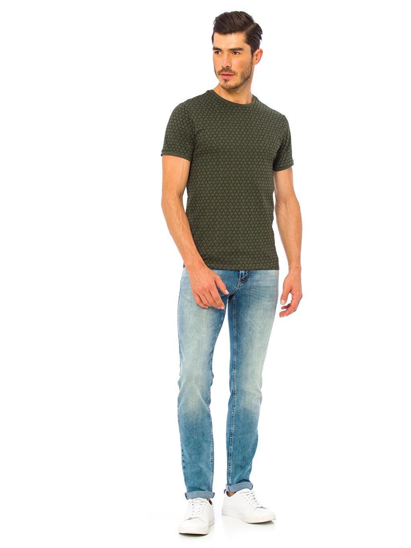 Erkek Baskılı Kısa Kollu Tişört