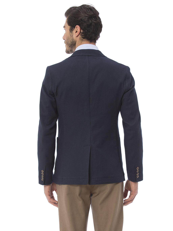 %98 Pamuk %2 Elastan Düz Blazer Ceket Standart Astarsız Standart Kalıp Blazer Ceket