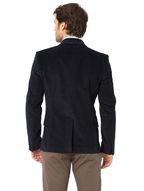 %98 Pamuk %2 Elastan %100 Polyester Düz Blazer Ceket Astarlı Standart Blazer Kadife Ceket
