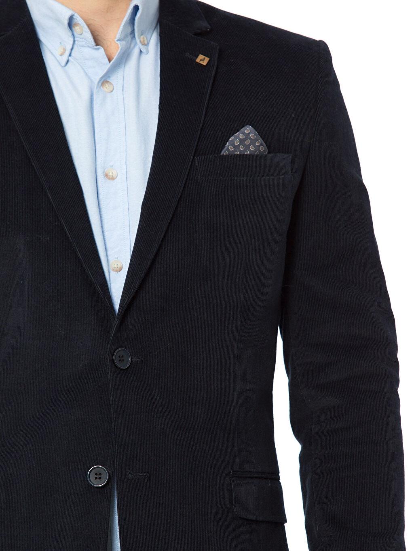 %98 Pamuk %2 Elastan Blazer Kadife Ceket