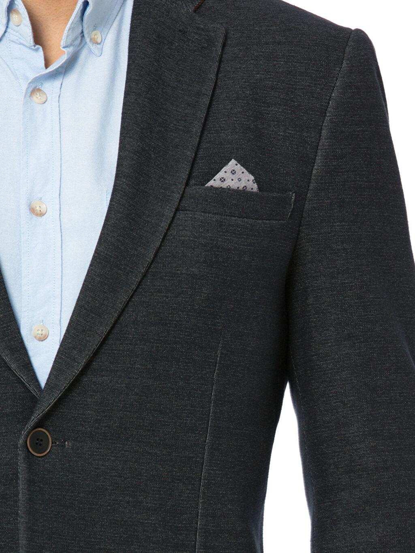 %65 Pamuk %35 Polyester Dar Kalıp Blazer Ceket