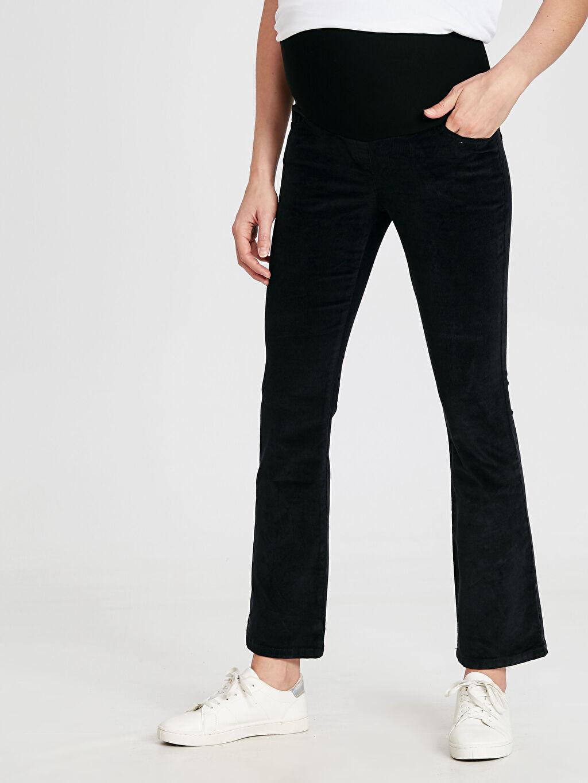 %98 Pamuk %2 Elastan Çizme Paça Pantolon Düz Kalın Kadife Çizme Paça Kadife Hamile Pantolon