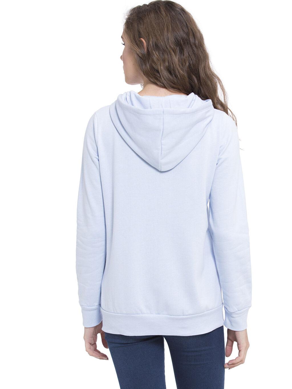 %52 Pamuk %48 Polyester Spor Hırka Kapüşonlu Fermuarlı Sweatshirt