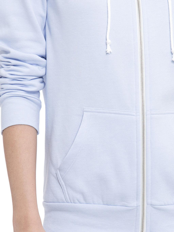 %52 Pamuk %48 Polyester Kapüşonlu Fermuarlı Sweatshirt