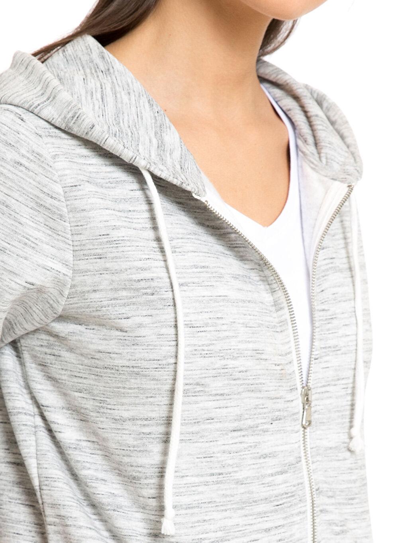 %64 Pamuk %36 Polyester Kapüşonlu Fermuarlı Sweatshirt