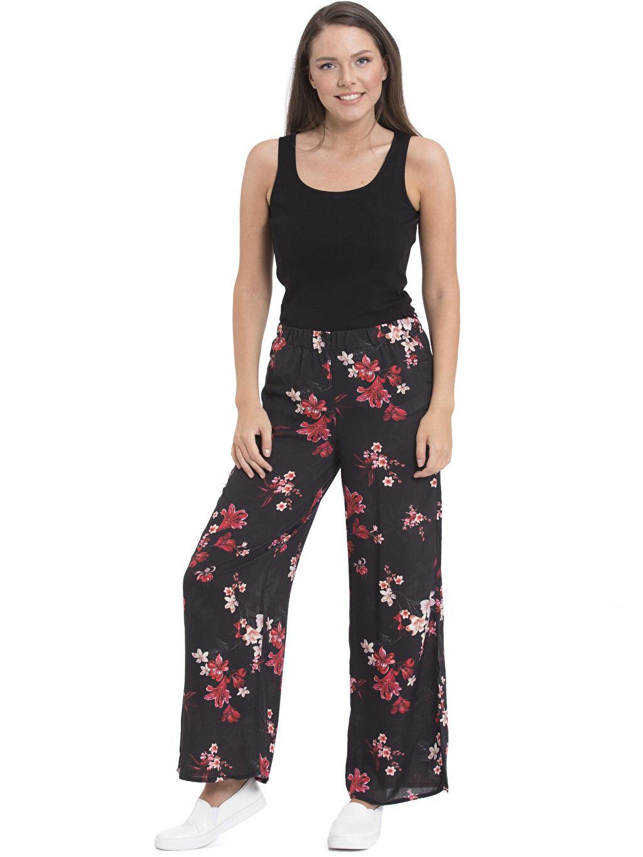 Kadın Desenli Bol Pantolon