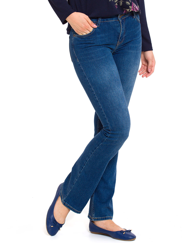 İndigo Normal Bel Jean Pantolon 7K9489Z8 LC Waikiki