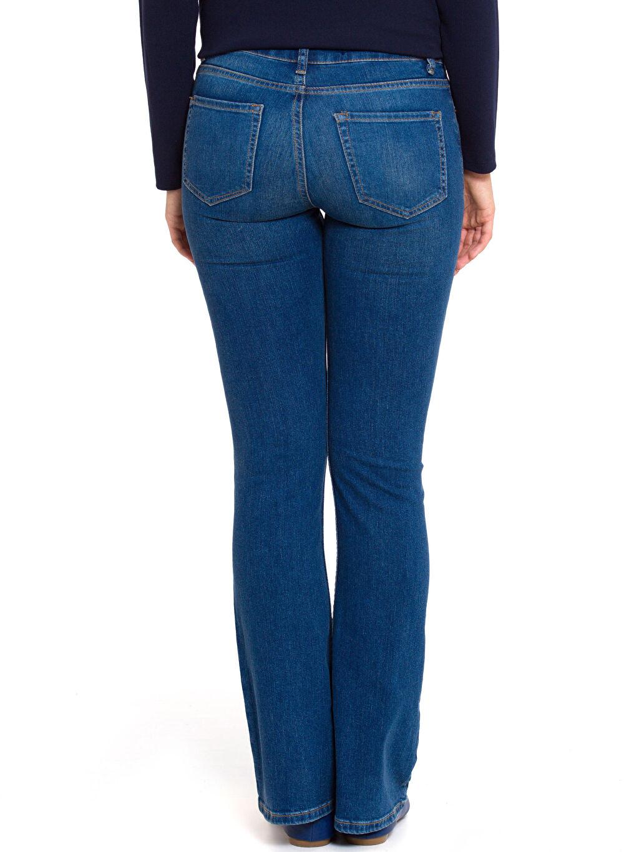 %98 Pamuk %2 Elastan Standart Normal Bel Uzun Jean Normal Bel Jean Pantolon
