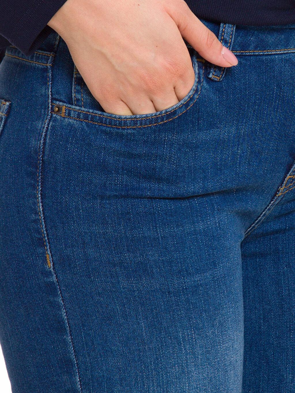 %98 Pamuk %2 Elastan Normal Bel Jean Pantolon