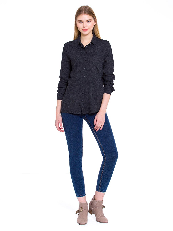 Kadın Gabardin Gömlek