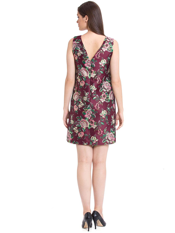 Kadın Çiçek Desenli Mini Elbise