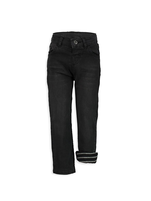 Siyah Bol Kesim Jean Pantolon 7K0365Z4 LC Waikiki