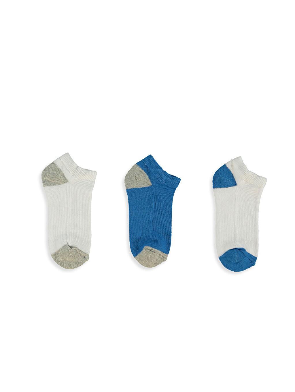 Mavi Patik Çorap 3'lü 7K9363Z4 LC Waikiki