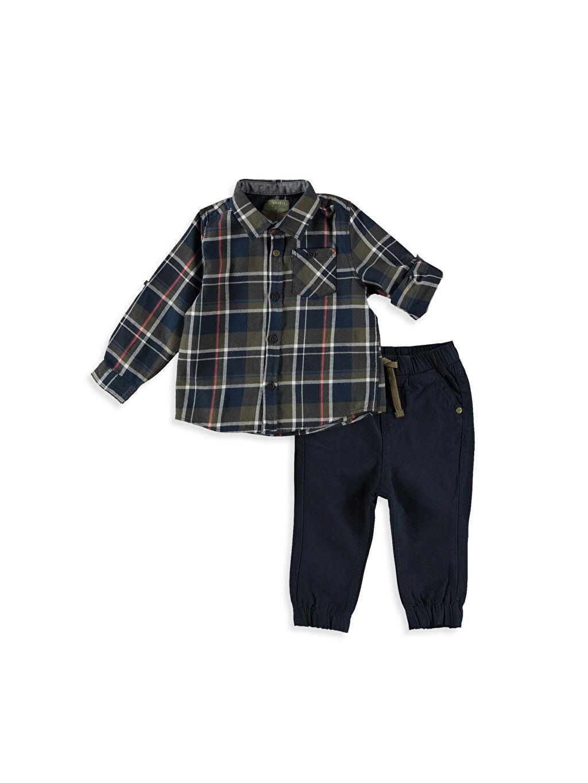 Haki Erkek Bebek Gömlek ve Pantolon 7K3489Z1 LC Waikiki