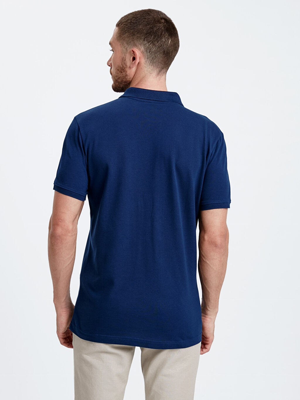 %100 Pamuk Polo Yaka Kısa Kol Düz Standart Tişört Pike Polo Yaka Kısa Kollu Pike Tişört