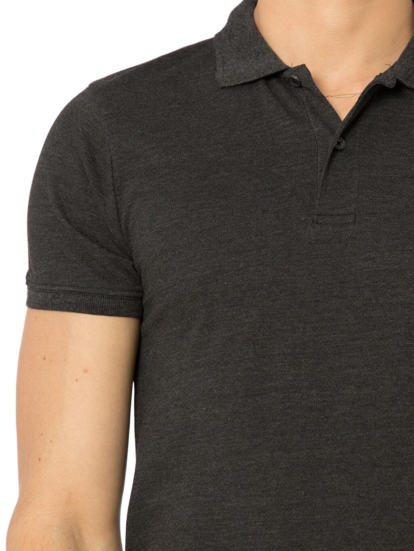 %58 Pamuk %42 Polyester Polo Yaka Kısa Kollu Pike Tişört