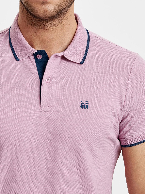 %36 Pamuk %64 Polyester Polo Yaka Kısa Kollu Pike Tişört