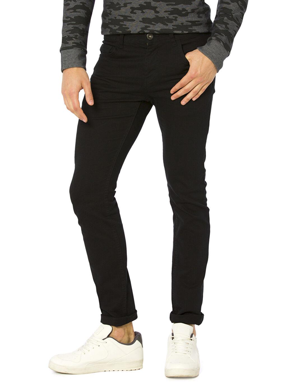 Siyah Slim Gabardin Pantolon 8S1071Z8 LC Waikiki