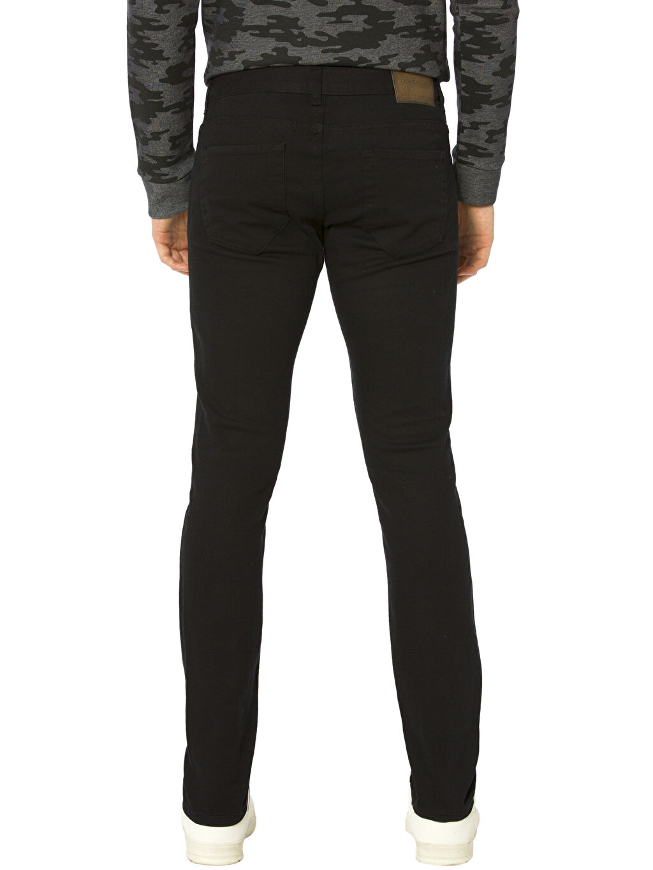 %98 Pamuk %2 Elastan Normal Bel Dar Pilesiz Pantolon Slim Gabardin Pantolon