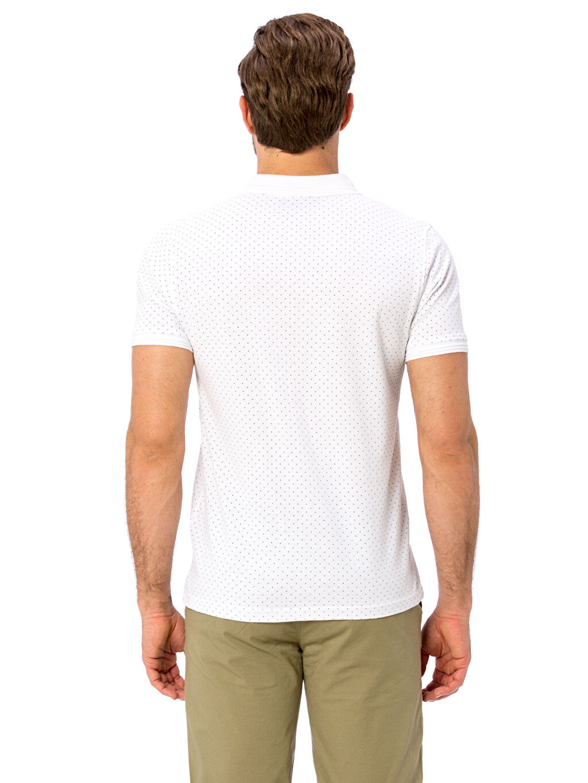 %100 Pamuk Polo Yaka Kısa Kol Standart Baskılı Tişört Desenli Polo Yaka Kısa Kollu Pamuklu Tişört
