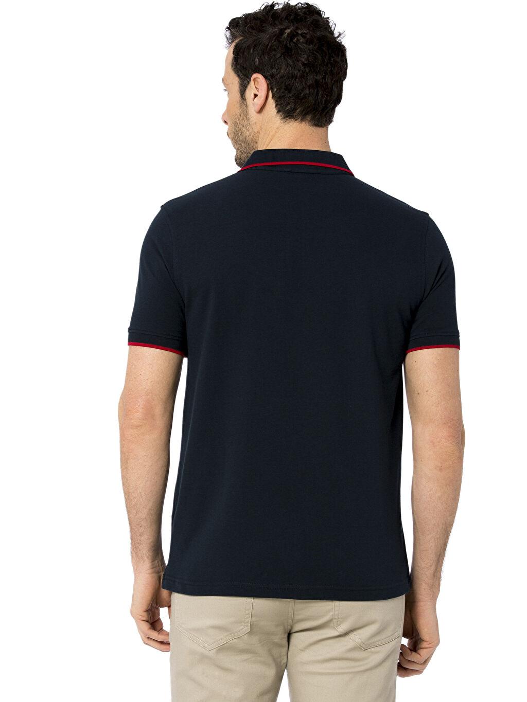 %100 Pamuk Polo Yaka Kısa Kol Çizgili Standart Tişört Çizgili Polo Yaka Kısa Kollu Pike Tişört